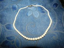 ELEGANT CLASSIC GRADUATED FAUX PEARL NECKLACE PATENT CLASP 537985 18""